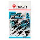 Карабин с вертлюгом Higashi Pin lock snap plus B-20 #3 Black Nickel